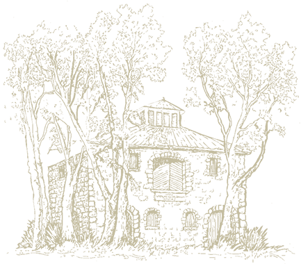 Illustration of historic Frank Family Vineyards' Stone House